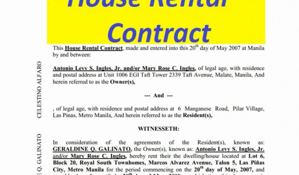 House Rent Agreement Template Nepali