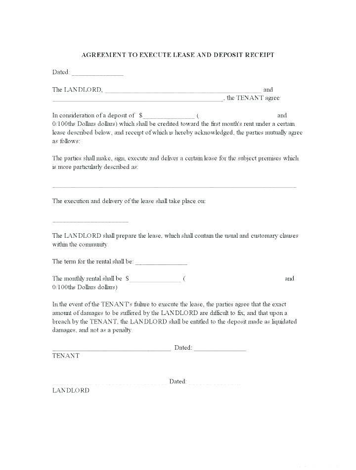 House Rent Contract Template Word