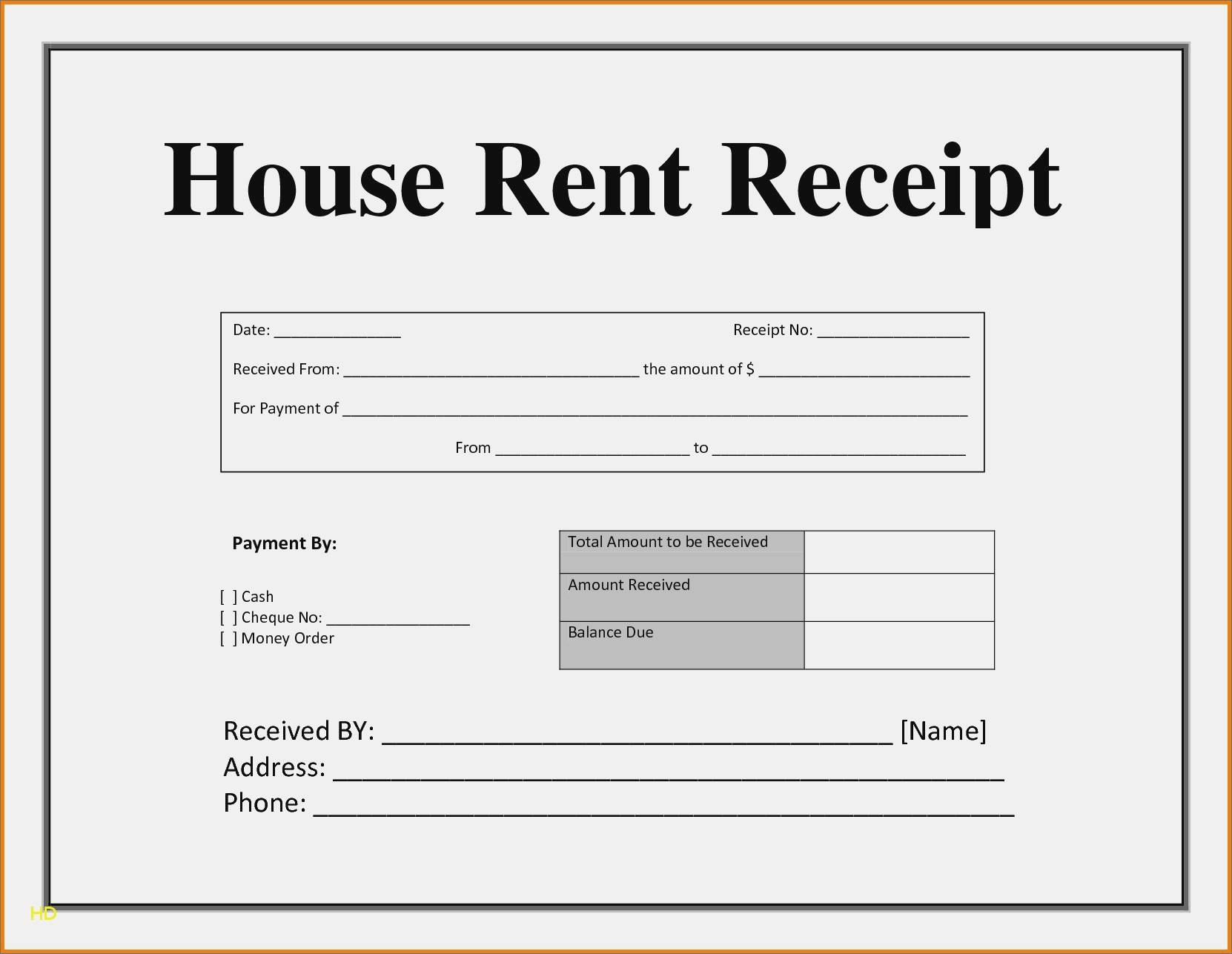 House Rent Invoice Template Free