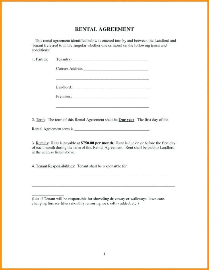 House Rental Agreement Template Ireland