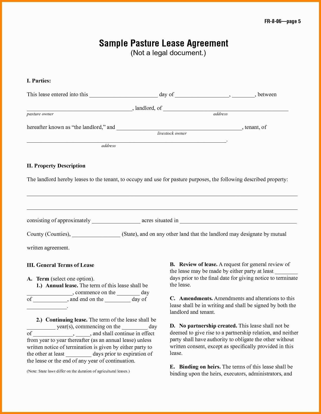 House Rental Form Template