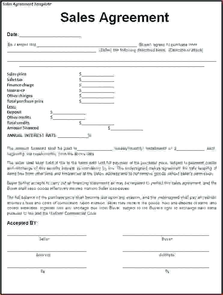 House Sales And Purchase Agreement Template