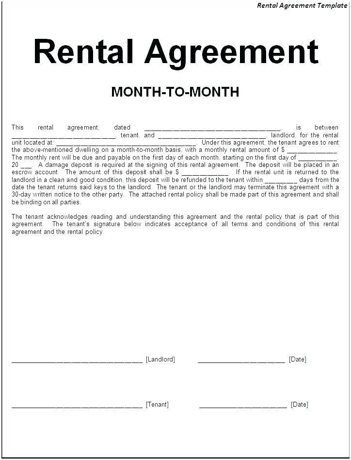 House Share Lease Agreement Template