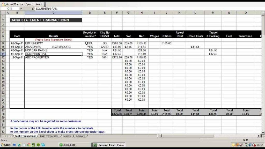 Household Expense Sheet Excel Template