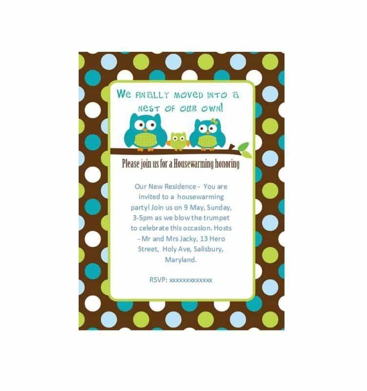 Housewarming Invitation Template Download