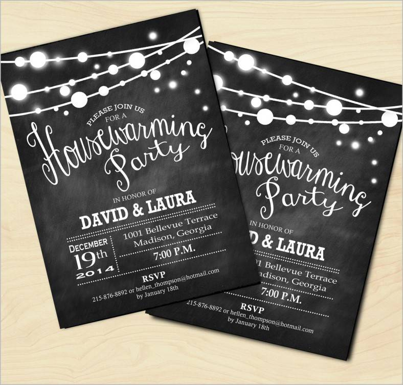 Housewarming Invitations Templates Psd