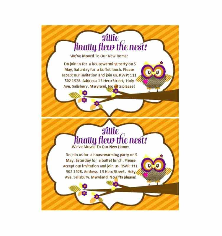 Housewarming Invite Template India