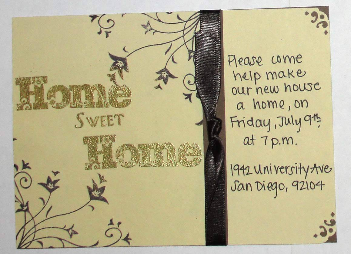 Housewarming Party Invitation Samples