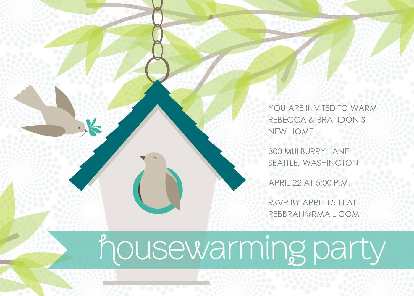 Housewarming Template Invitation