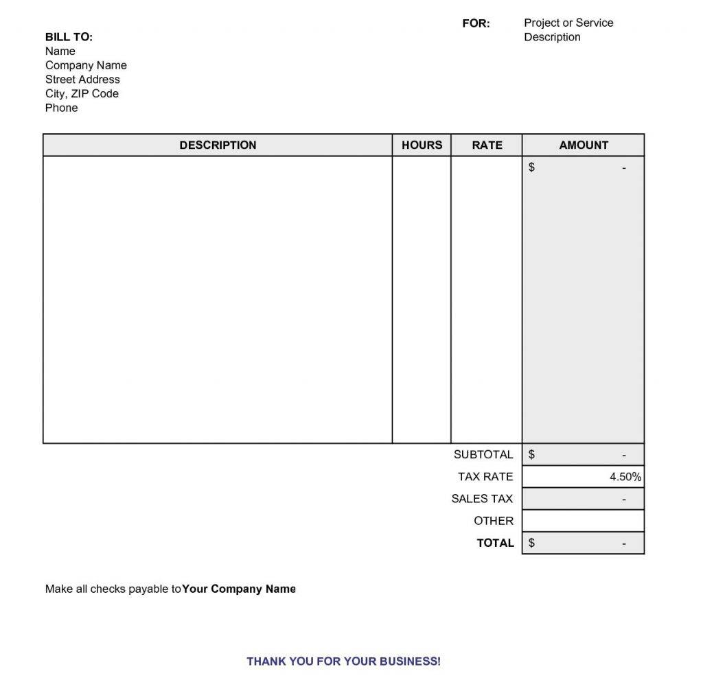 How To Get Invoice Template On Microsoft Word 2007