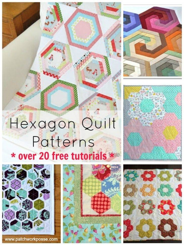 How To Make A Half Hexagon Quilt Template