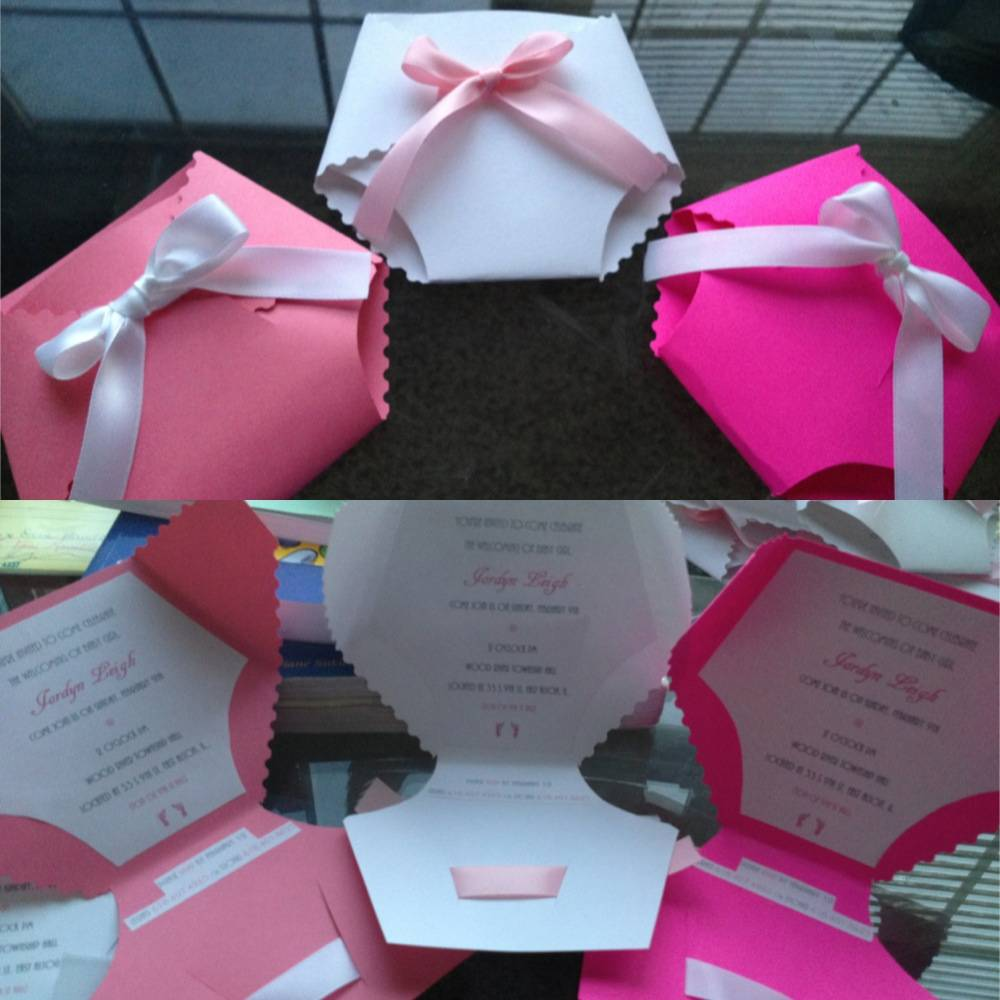 How To Make Diaper Baby Shower Invitations Template