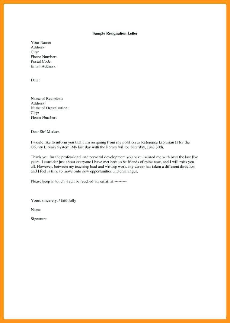 How To Write A Good Resignation Letter Template