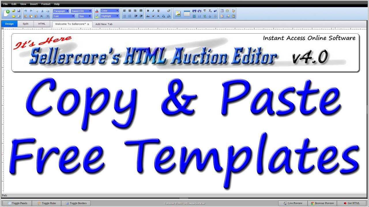 Html Editor For Ebay Auction Templates