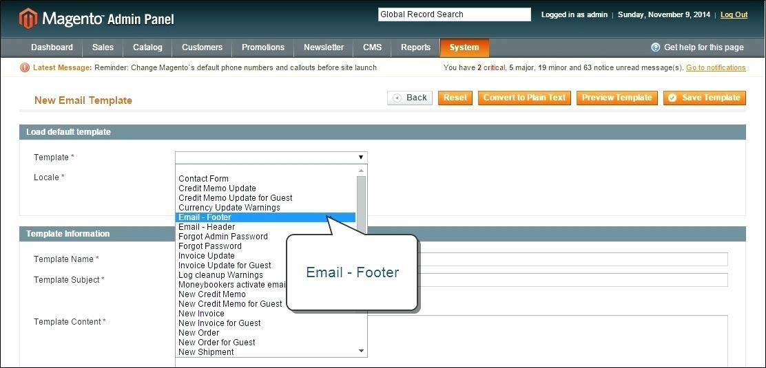 Html Email Footer Template