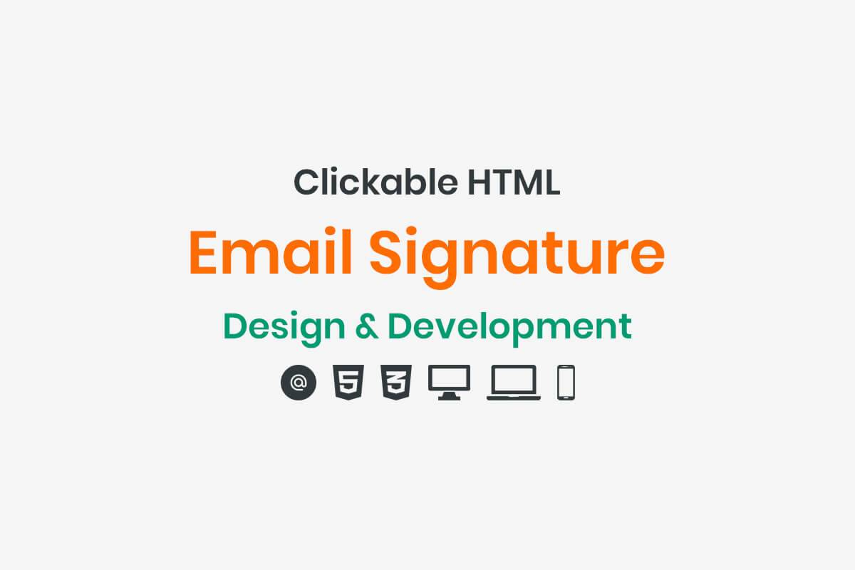 Html Email Signature Design