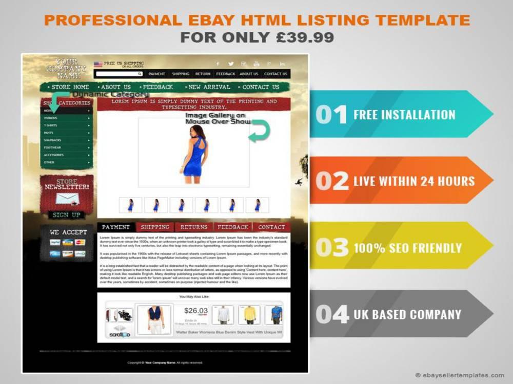 Html Template For Ebay Listing