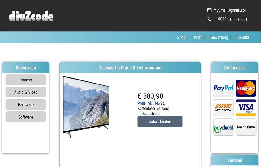 Html5 Ebay Template