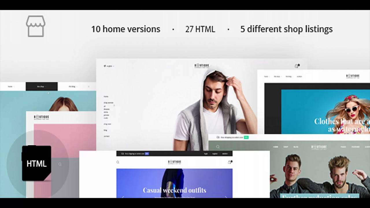 Html5 Ecommerce Website Templates Themeforest