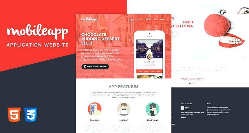 Html5 Mobile App Templates Free Download
