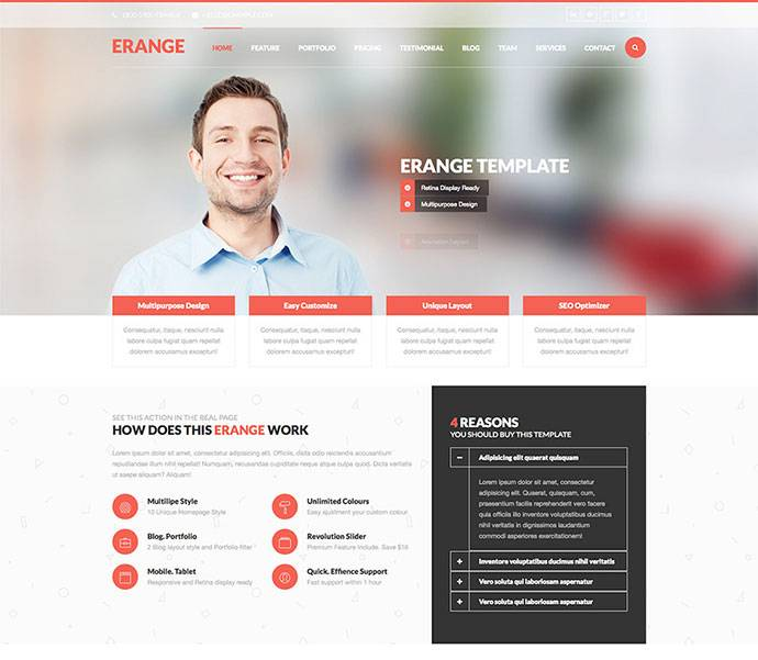 Html5 Responsive Templates For Business