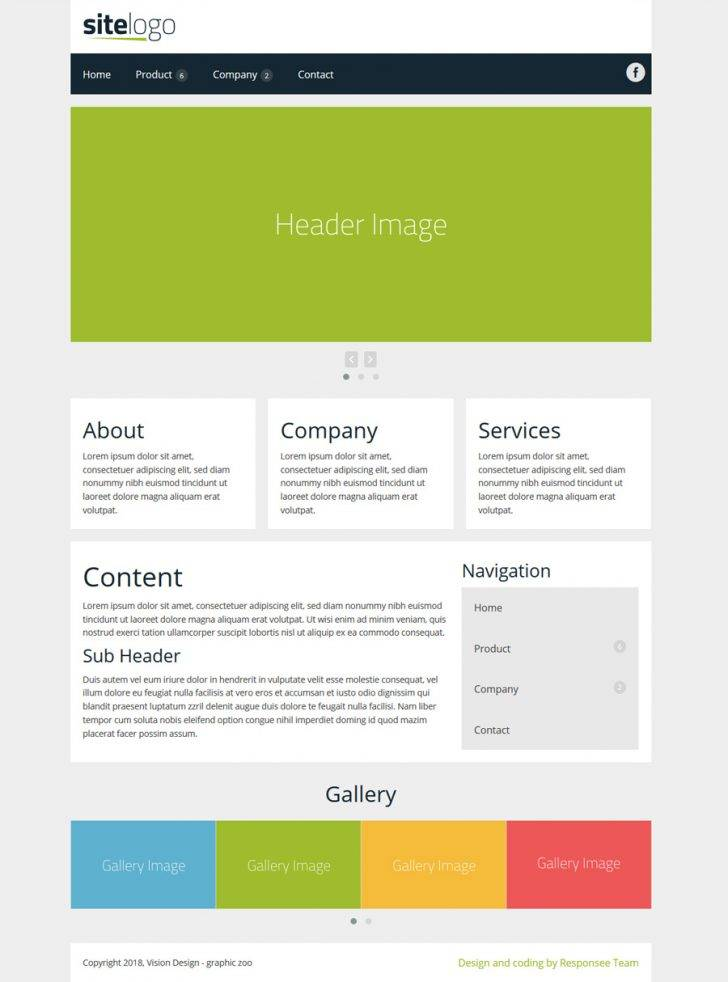 Html5 Responsive Templates For It Company