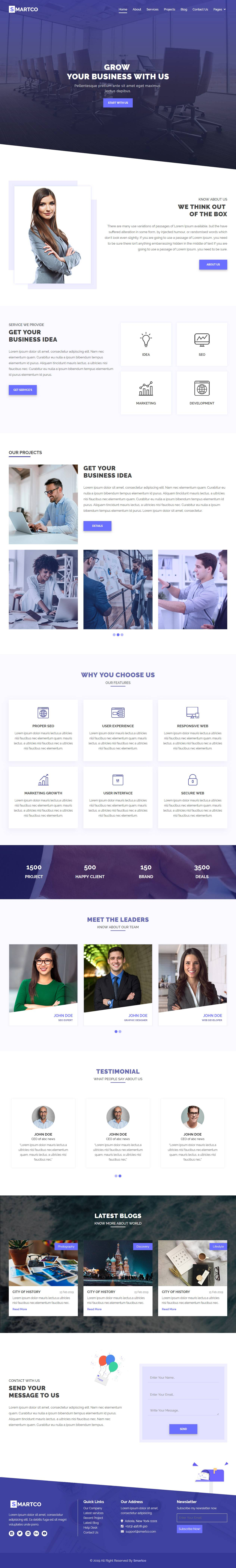 Html5 Responsive Templates One Page