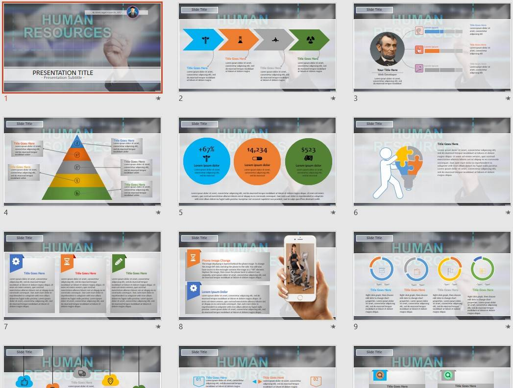 Human Resources Powerpoint Templates
