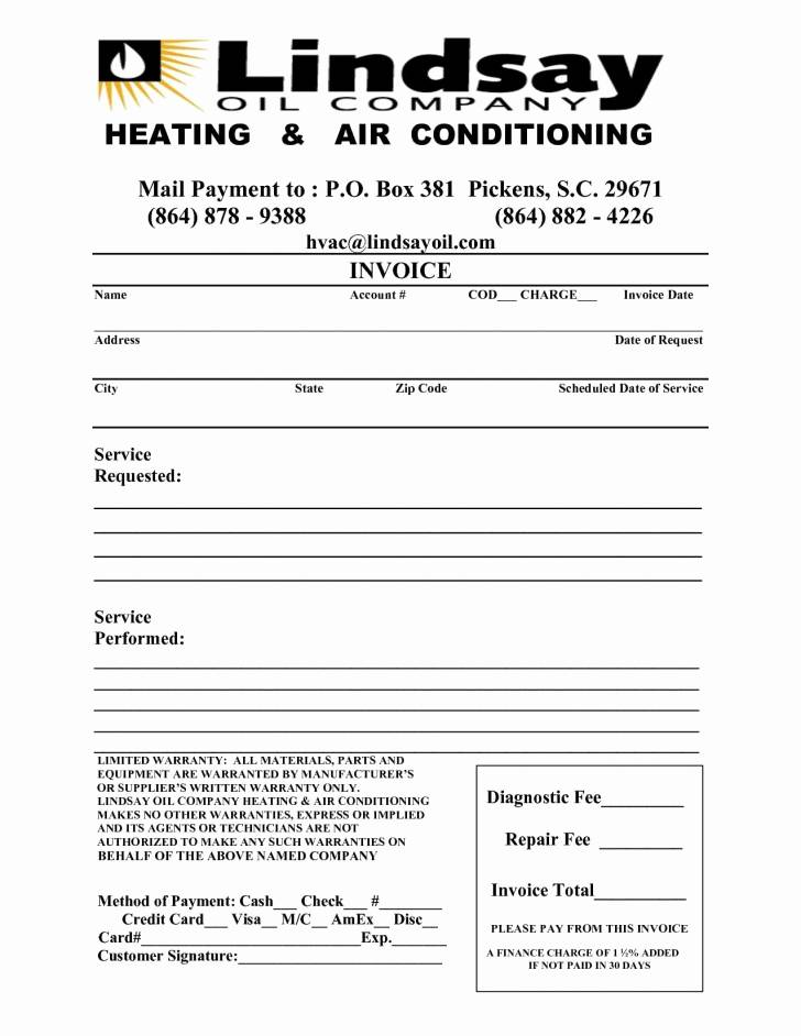 Hvac Maintenance Agreement Forms Pdf