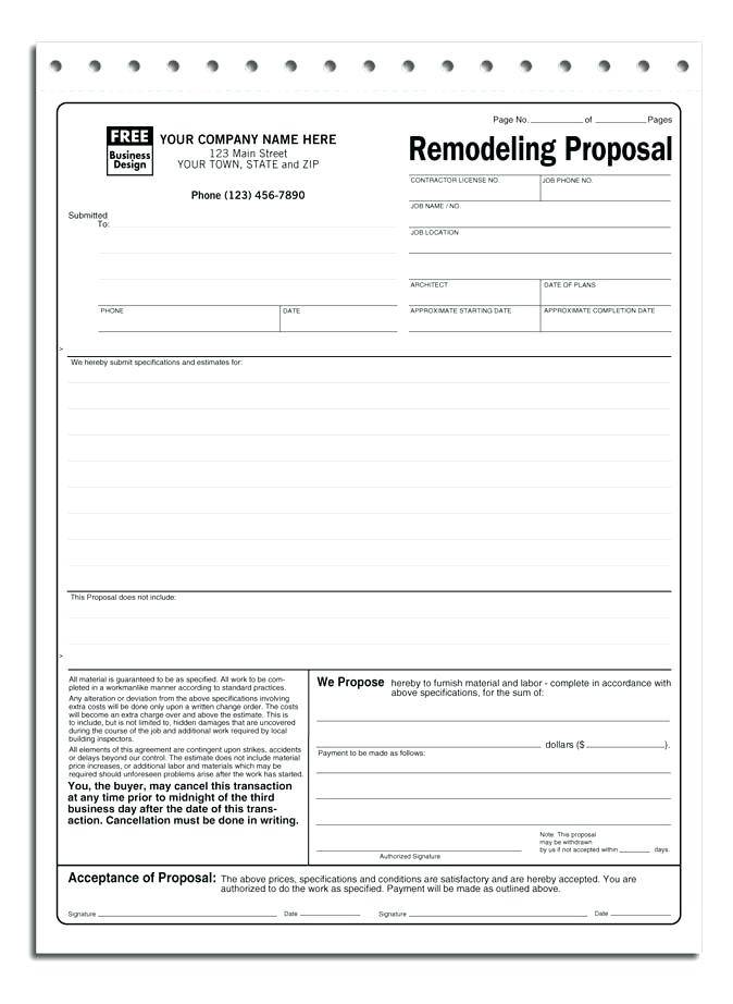 Hvac Proposal Template Software