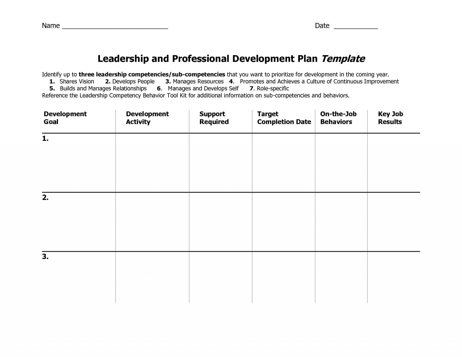 Idp Individual Development Plan Template