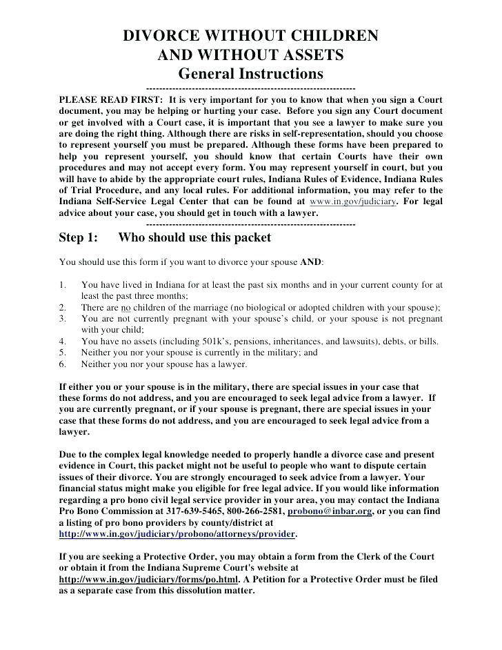 Illinois Divorce Papers Template