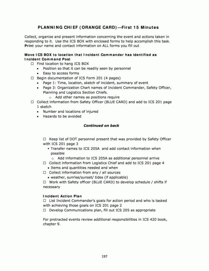Incident Action Plan Template Fema