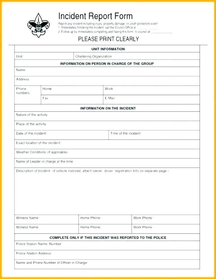 Incident Investigation Report Format