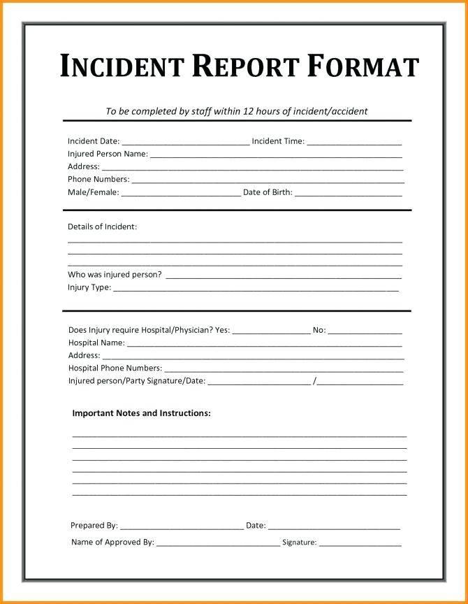 Incident Investigation Report Template Ontario