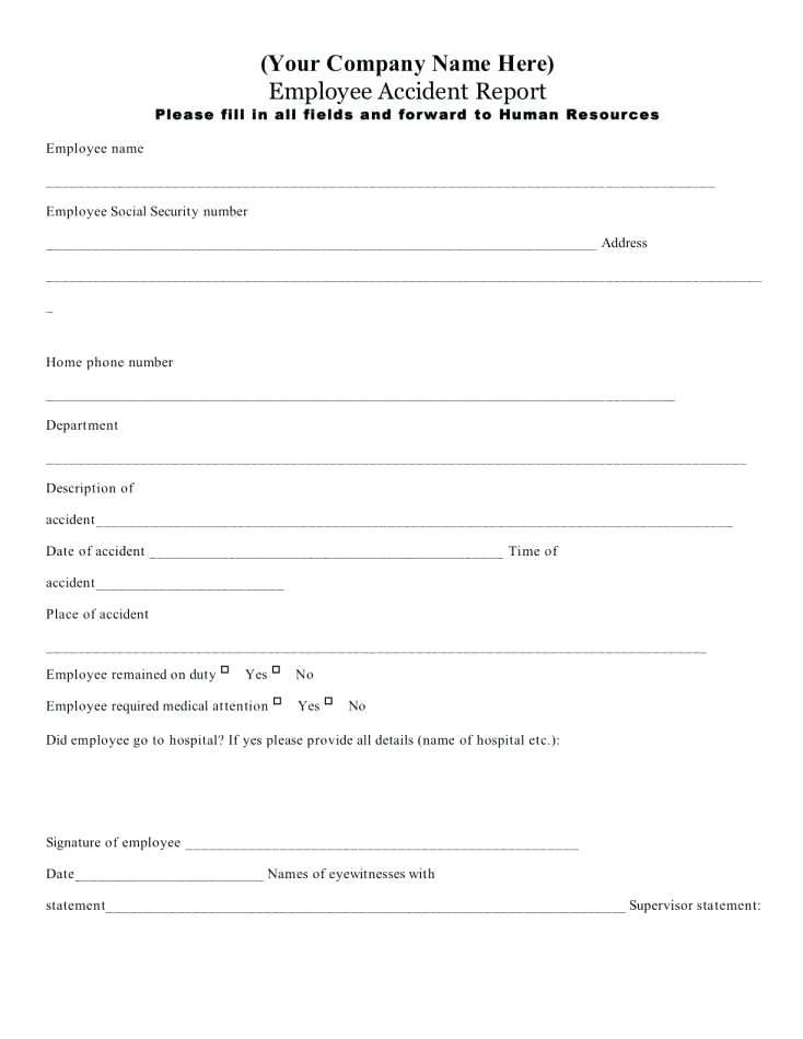 Incident Investigation Report Template Word