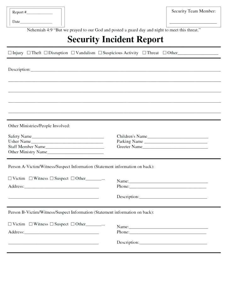 Incident Investigation Template Word