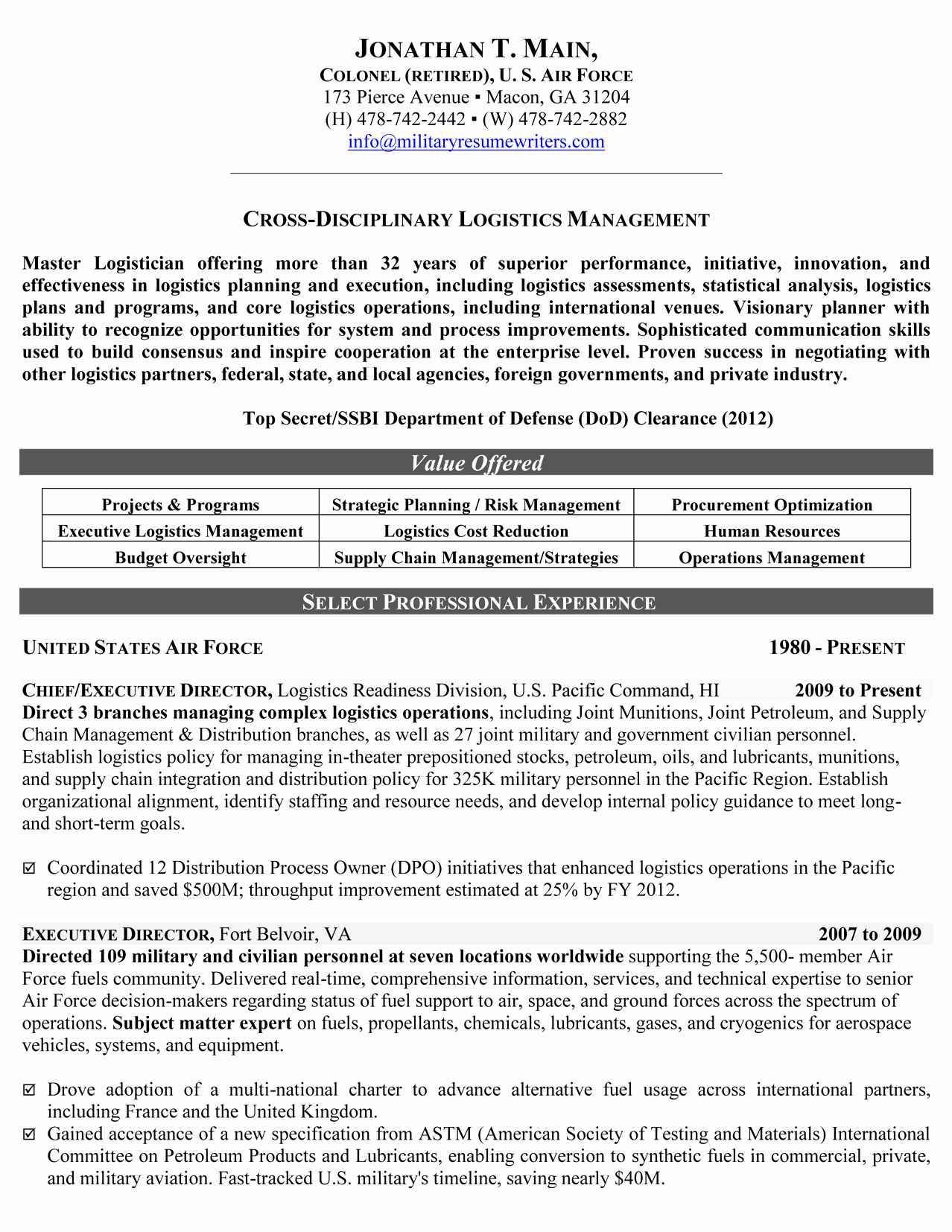 Incident Management Resume Templates