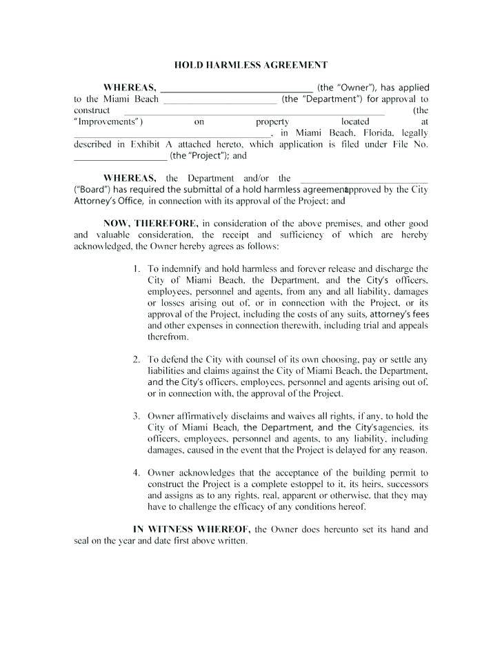 Indemnity Form Template For School Outing