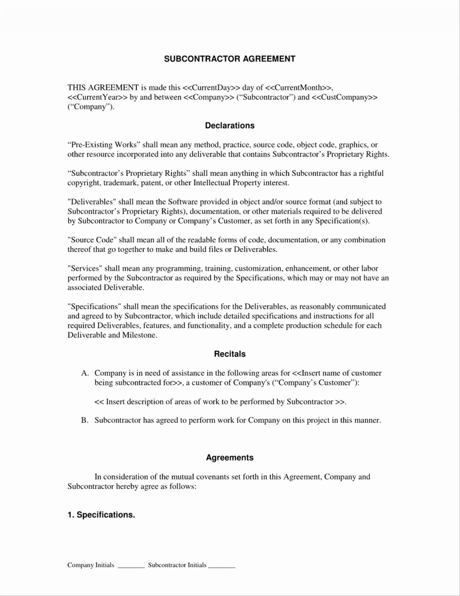 Independent Contractor Agreement Template Nsw