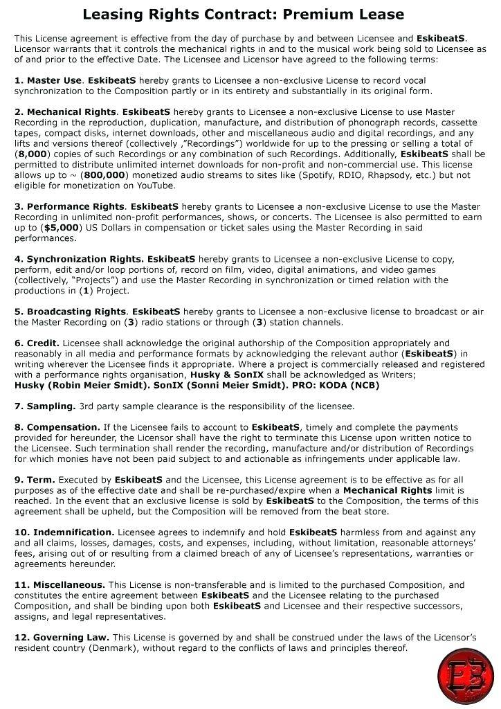 Independent Record Label Contract Template Uk