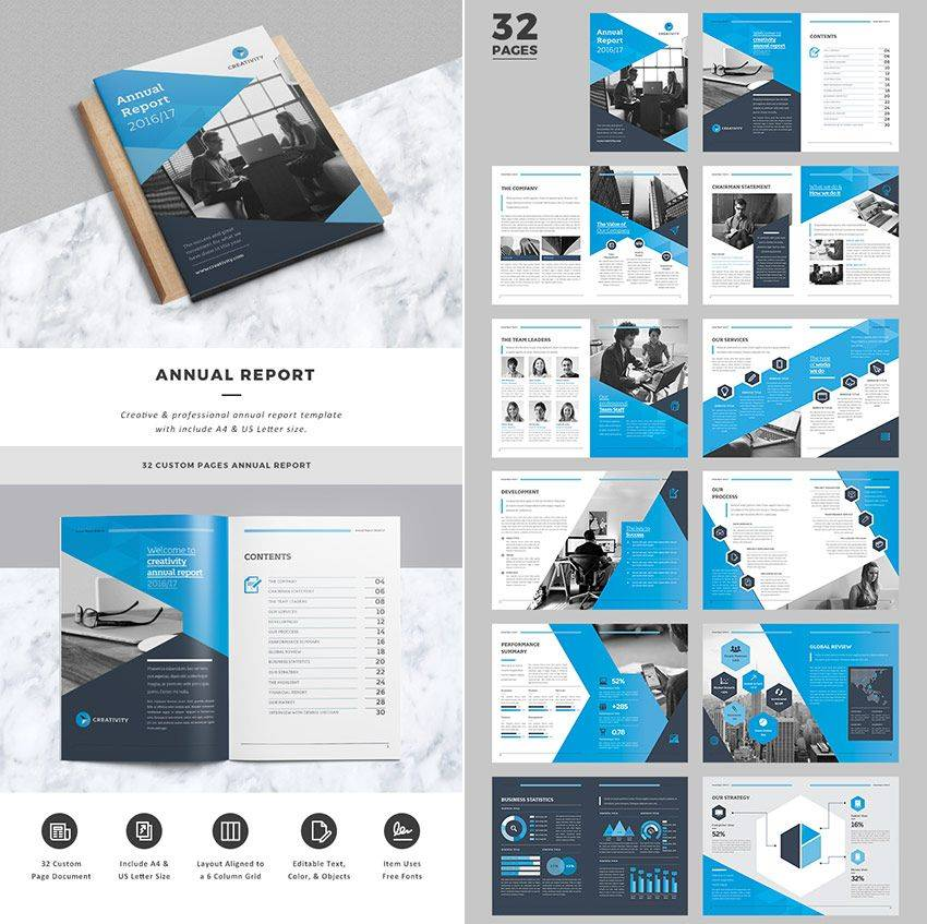 Indesign Annual Report Template