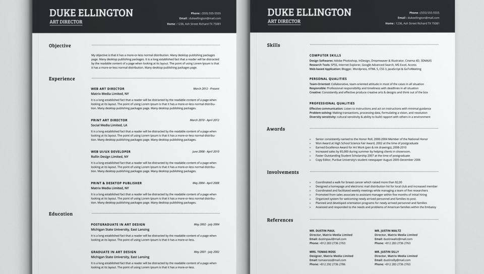 Indesign Cs5 Resume Template Free