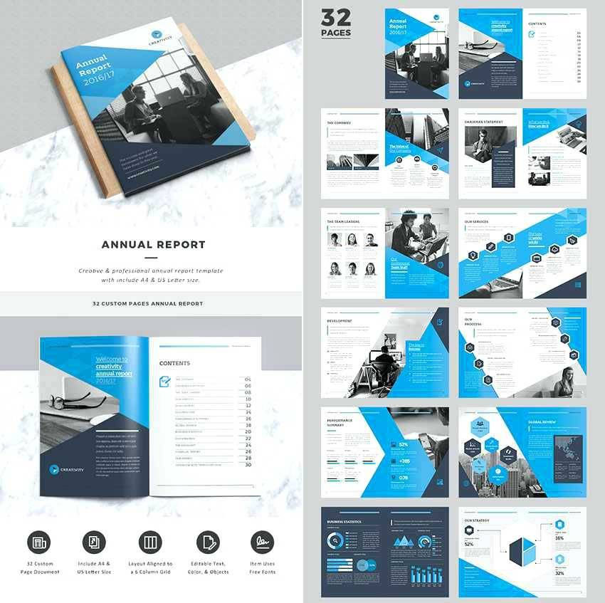 Indesign Template Annual Report Free