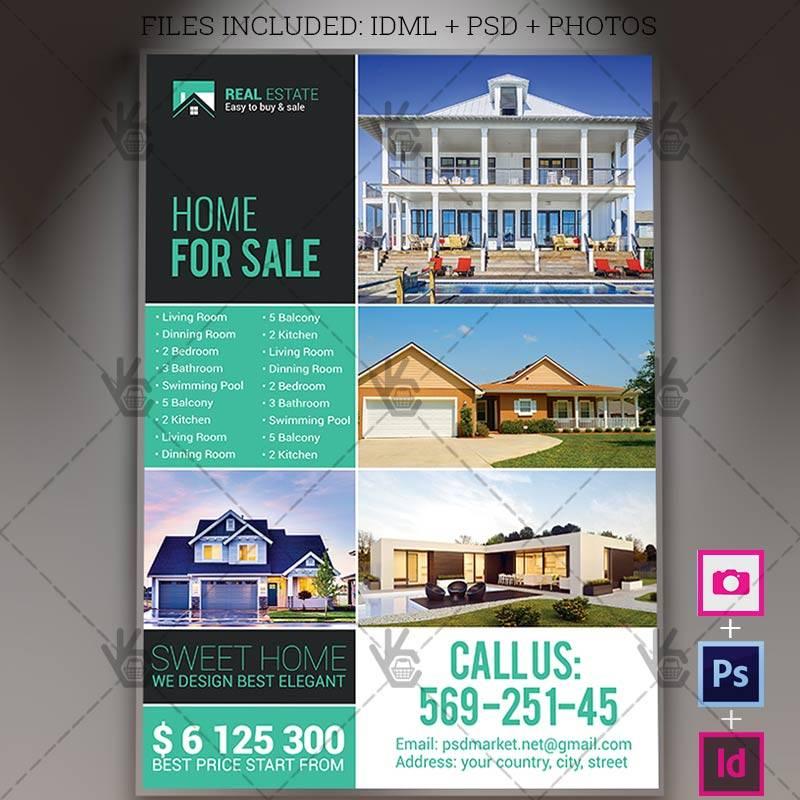 Indesign Template Real Estate Flyer