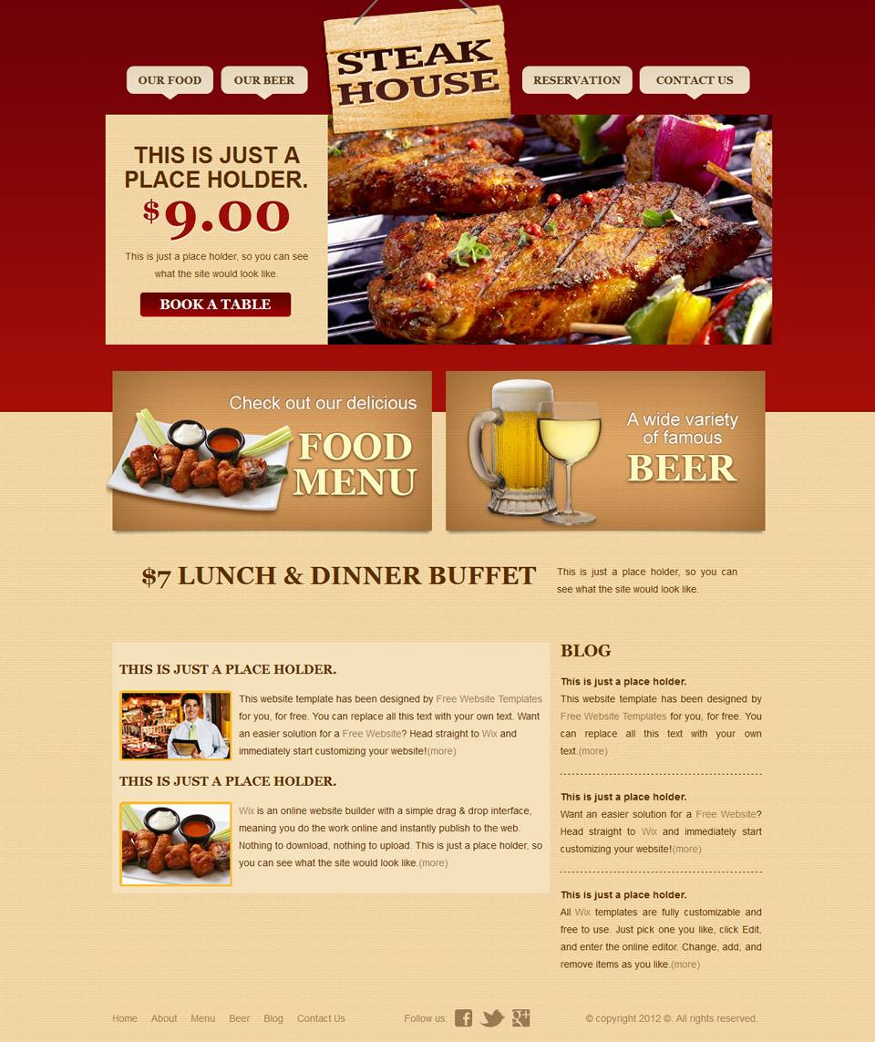 Indian Catering Website Templates Free Download