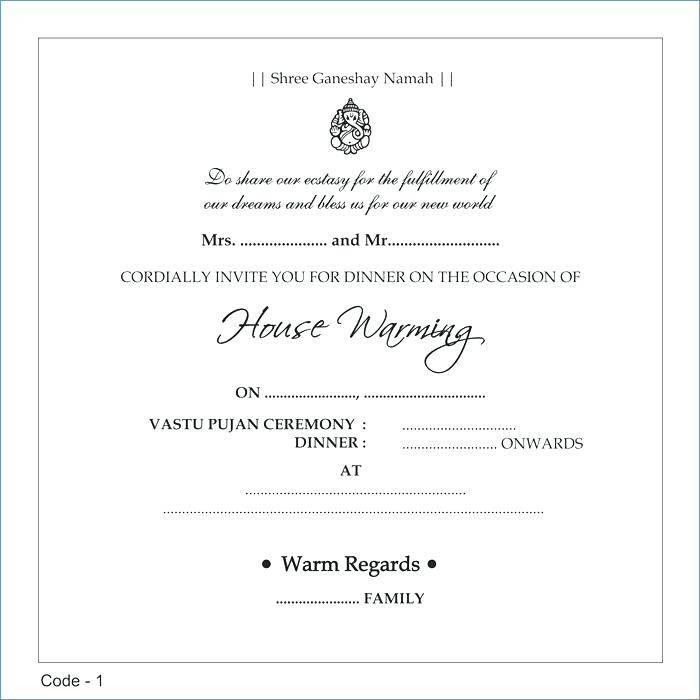 Indian Housewarming Invitation Templates Free
