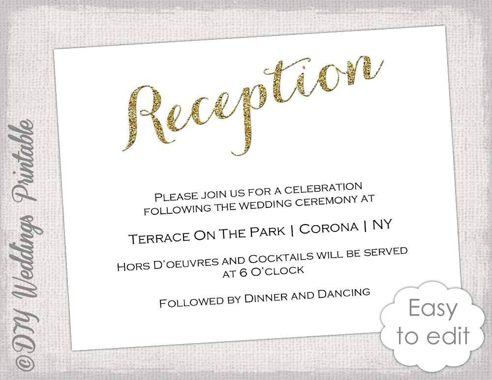 Indian Reception Invitation Template