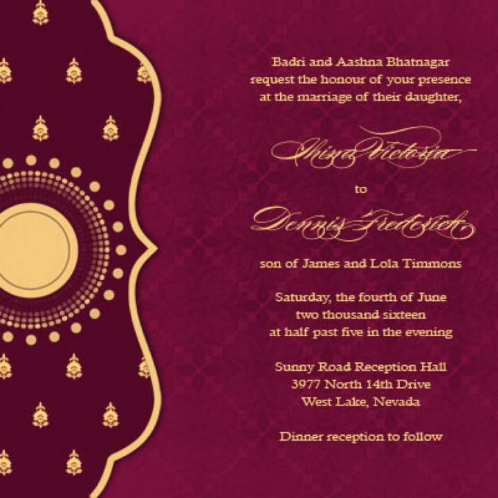Indian Reception Invitation Templates