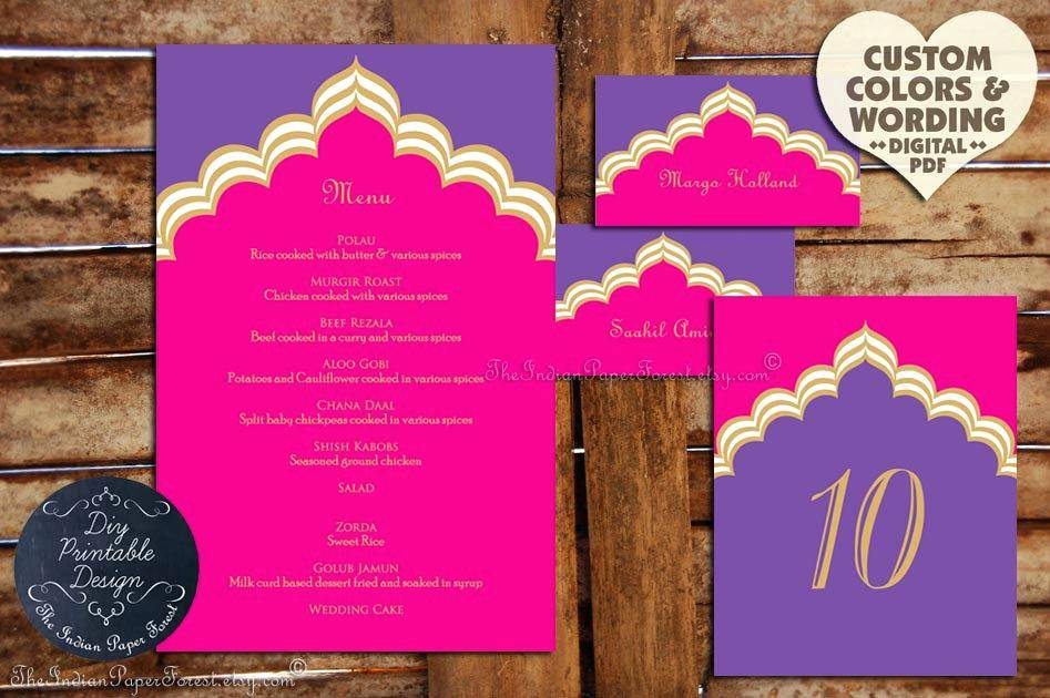 Indian Restaurant Menu Card Templates